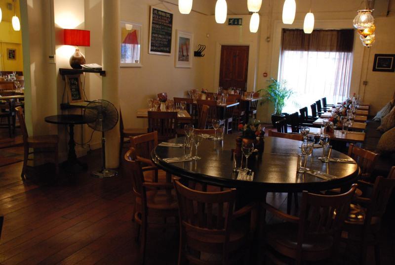 Modern wooden tables - Ginger Bistro Modern Irish Restaurant Belfast County