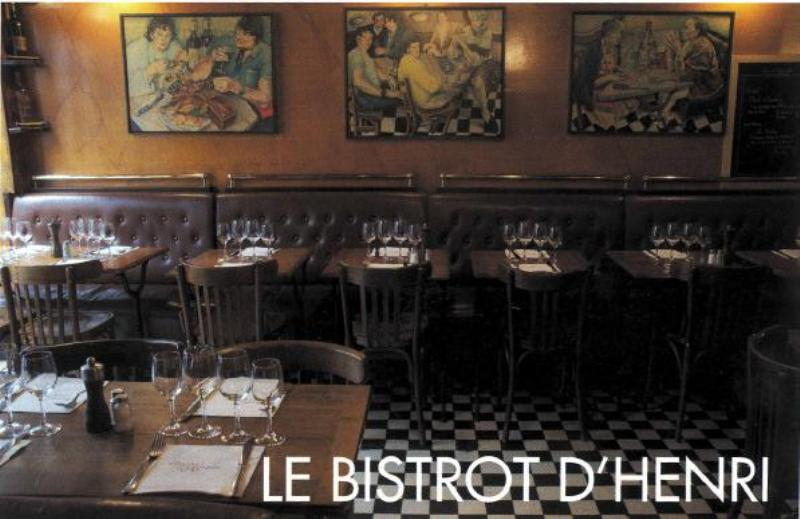 Interior, Bistrot d' Henri, Paris, France.