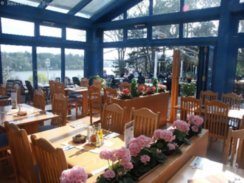 Hügoloss Biergarten Cafe, Essen