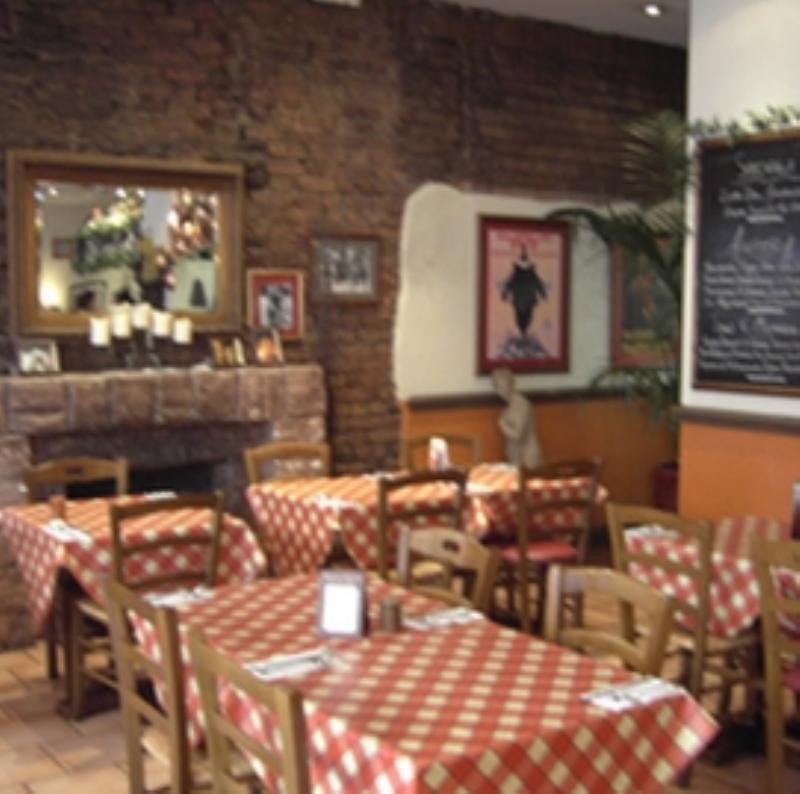 Interior for Bella Italia Italian restaurant on Baldwin Street in Bristol