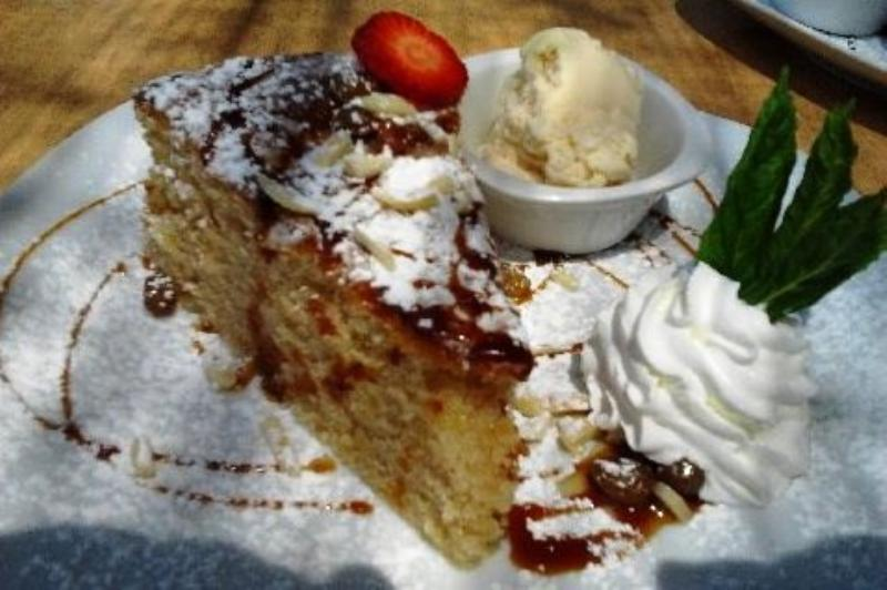 The Village Cafe Deia - Almond Cake (Photo courtesy of R Harding)