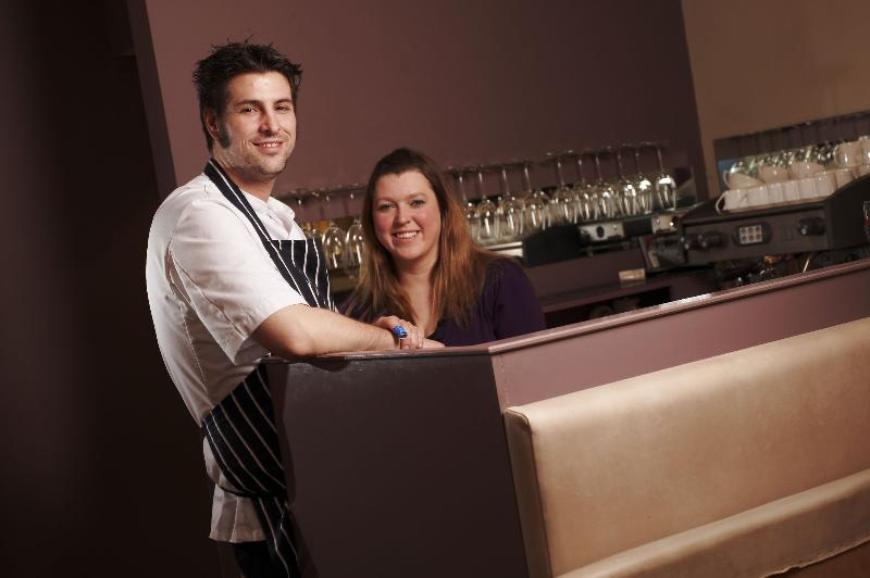 Chef Jon Howe and his partner Helen