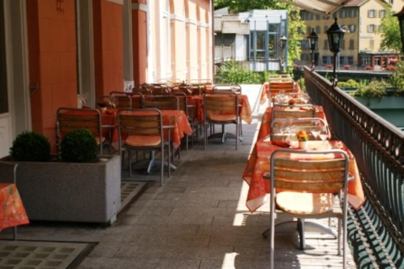 Restaurant Goldener Schlüssel, Baden, Limmatpromenade