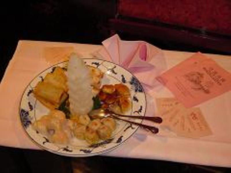 Selection of starters, China Restaurant Rosengarten, Dusseldorf